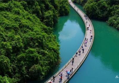 """宣恩狮子关水上栈道——""""湖北最美漂浮桥""""!"""