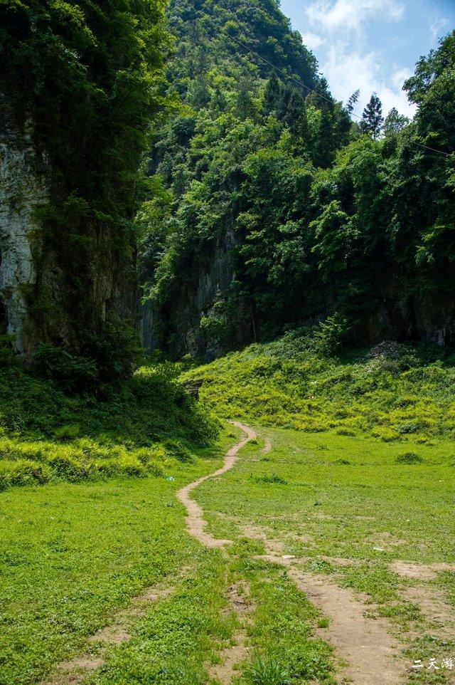 徒步清江古河床导航路线