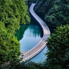 宣恩狮子关景区(最美水上浮桥)