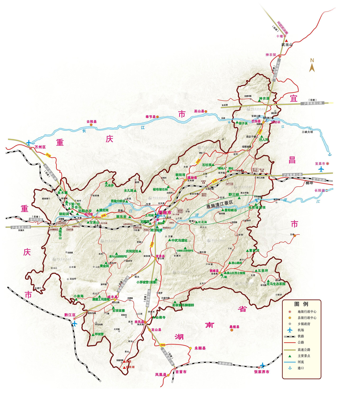 恩施旅游地图