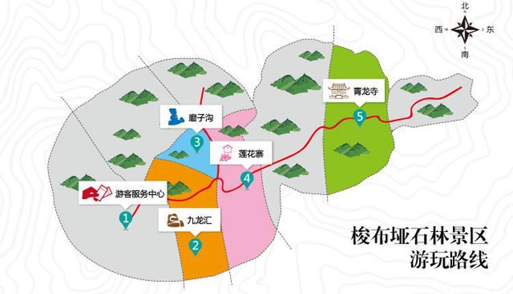 梭布垭石林景区地图